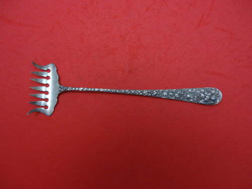 "Baltimore Rose by Schofield Sterling Silver Bacon Fork 7 5/8"" Antique"