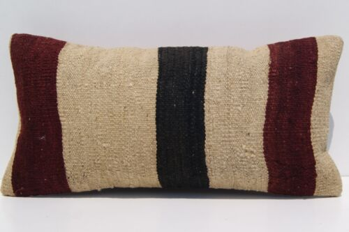 """Quote and durable 24""""x12"""" Kurdish kilim pillow covers Hand woven kelim area rugs"""