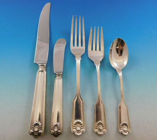 Fiddle Shell by Frank Smith Sterling Silver Flatware Set 8 Service 40 pcs Dinner