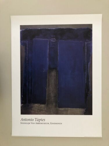 ANTONIO TAPIES,'BLUE OUTREMER ,1959' AUTHENTIC 1993 POSTER