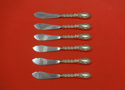 "Baltimore Rose by Schofield Sterling Silver Trout Knife Set 6pc 7 1/2"" Custom"