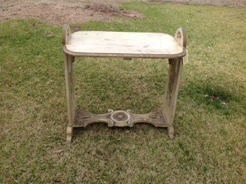 Vintage Side Table Carved  Reinassance Style