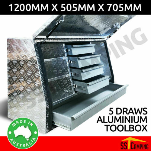5-Drawer 120*50*70 Toolbox 5052 High Quality Aluminum Plate Trailer Ute Caravn