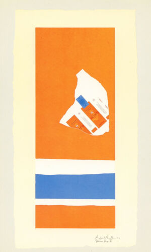 """Robert Motherwell """"Harvest, with Two White Stripes"""" 1973  Gemini G.E.L."""