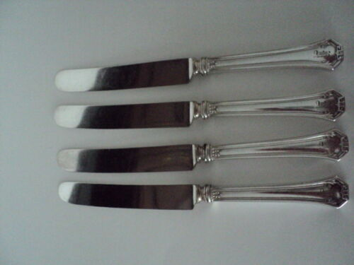 4 Old French DINNER KNIFE Vintage REED & BARTON silverplate: POMPEIAN pattern