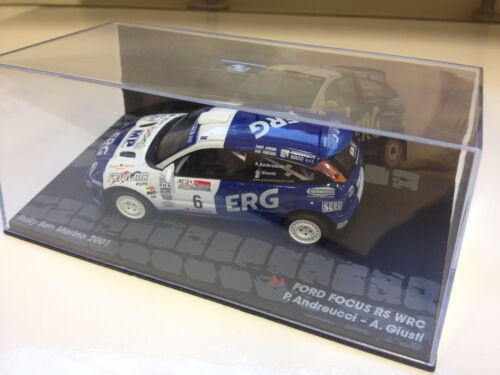 VOITURE MINIATURE RALLYE FORD FOCUS RS WRC 2001-Andreucci San Marino  - IXO 1/43