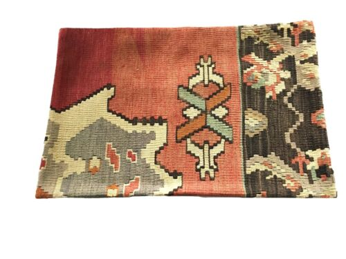"""Superb Custom Made Old Turkish  Tribal Kilim Pillow Cover 16"""" by 24"""""""