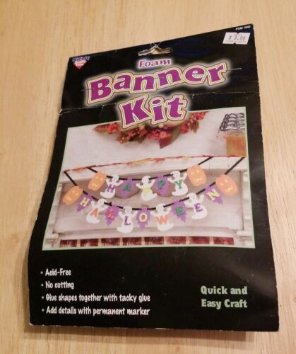 Happy Halloween Foam Banner Kit Nicole Quick And Easy Crafts Arts and Holiday