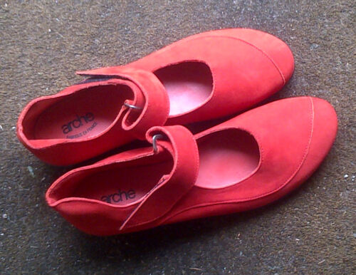 Arche Barkyl in Mandarin Nubuck Leather Shoes