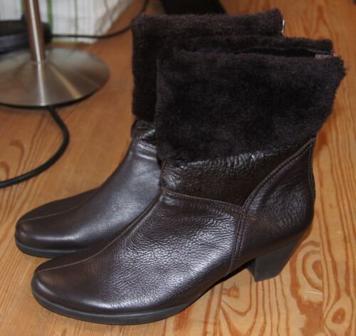 Arche Garfax Leather and Sheep Fur Ankle Boots