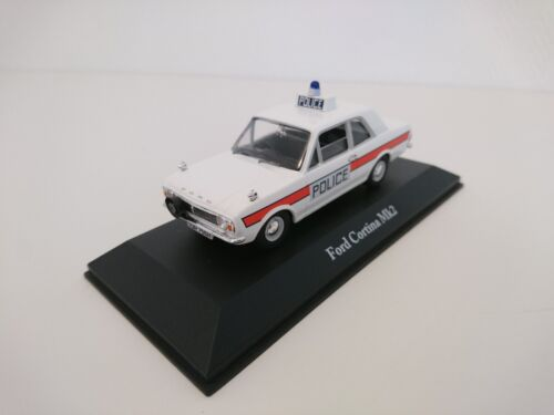 FORD CORTINA MKII UK Voiture police anglaise 1/43 ATLAS DIECAST MODEL CAR U8