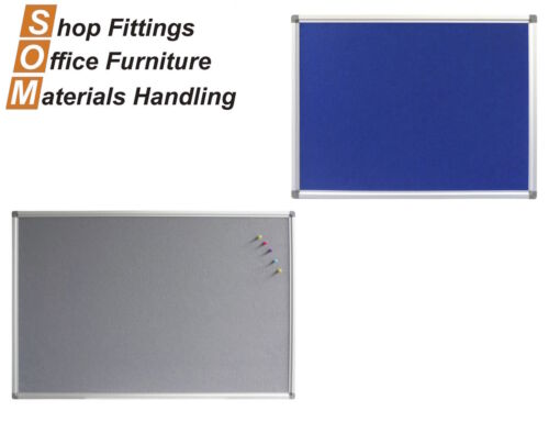 PINBOARD ALUMINIUM FRAME PINS INCLUDED OFFICE DISPLAY BOARD 900 X 600MM WIDE