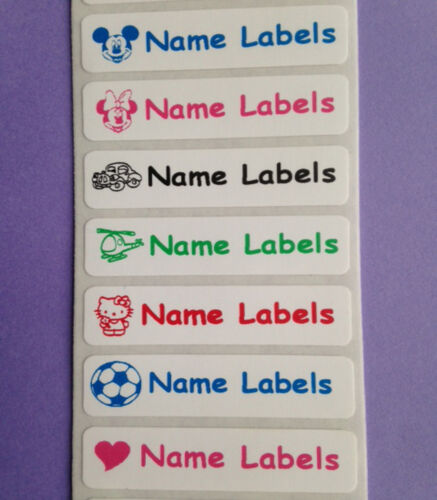 Iron on Personalised Waterproof Identity Name Clothing School Label Tags Tapes