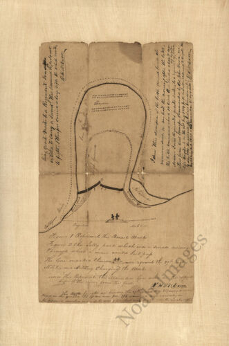 Sketch map of the Battle of Horseshoe Bend of Tallapoosa River AL c1814 repro 12