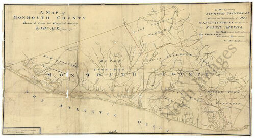 A map of Monmouth County c1781 repro 36x20