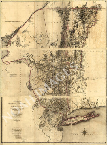 A chorographical map of the Province of New-York c1779 24x32