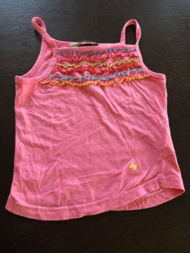 Oilily Girls Pink Singlet Top - Size 3-4
