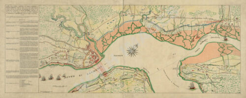 Map of plan of town of Quebec c1759 36x15