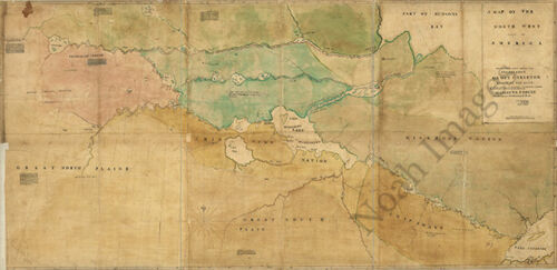 North west part of America c1776 map 36x18