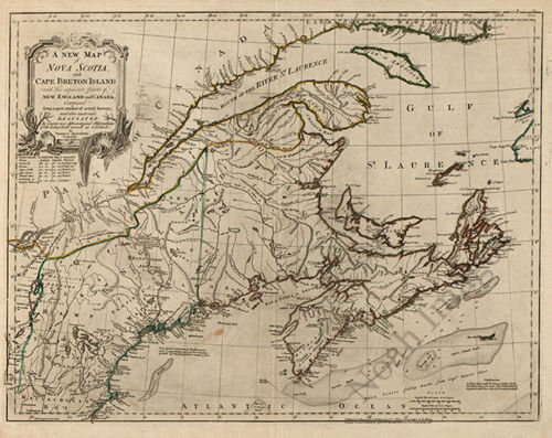 Map of Nova Scotia c1775 30x24