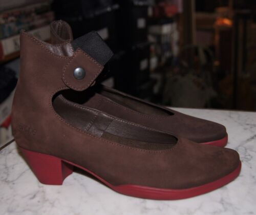 Arche Gayal in Cafe & Latex Rouge Mid Height Heel