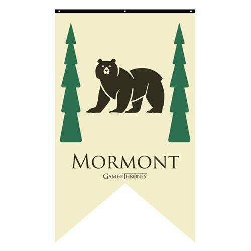Game of Thrones New * Mormont Sigil Banner * Jorah 30 x 50 Fabric Poster Print