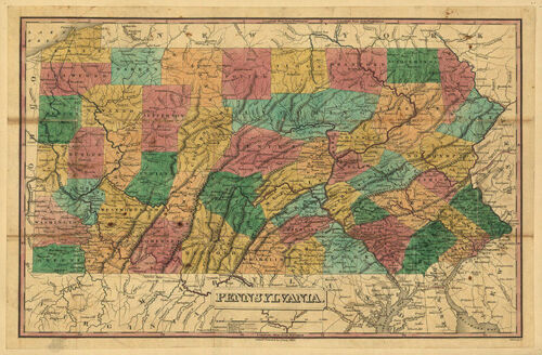 Map of PA c1829 24x16