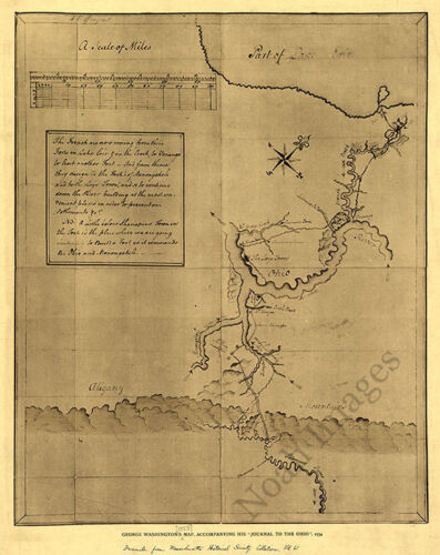 George Washingtons map c1754 16x20