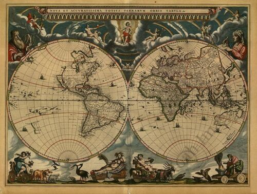 Map of the World c1664 31x24