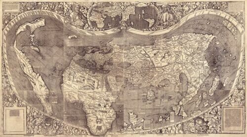 Map of the World c1507 36x20.5