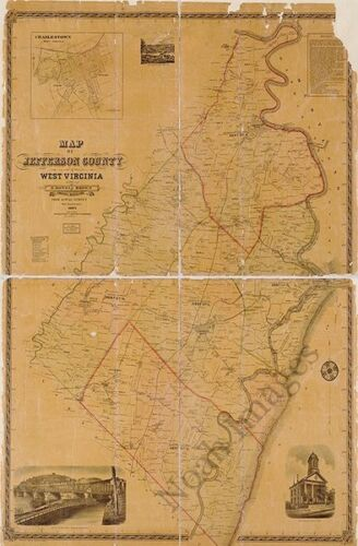 Map of Jerfferson County WV c1883 36x24