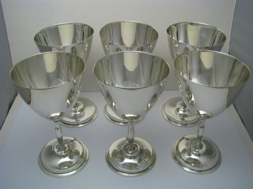 MID-CENTURY 6 STERLING SILVER GOBLETS CUPS Juventino Lopez Reyes Mexico ca1960's