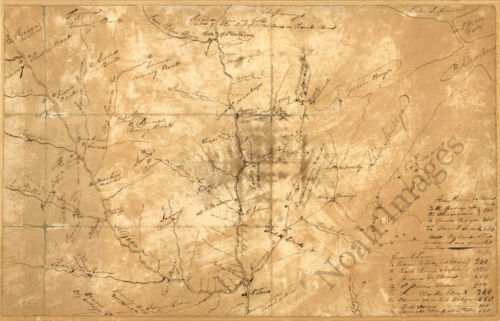 Plan of the NW frontier c1813 map 20x13