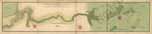Lower Mississippi River area c1732 map 36x9