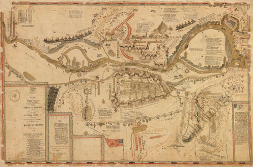 Plan of Fort Meigs Ohio c1813 map 36x24