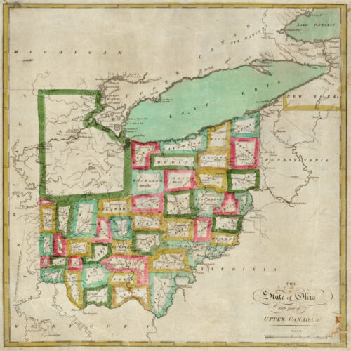 Map of State of Ohio c1827 24x24