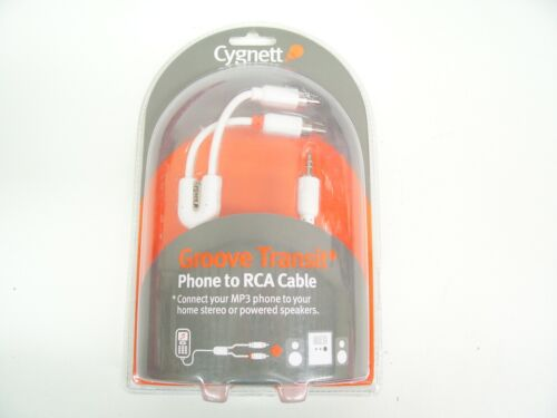 PHONE RCA CABLE IPOD MP3 PLAYER LAPTOP CD STEREO AUX 3.5MM 2CYGNETT CY-M-RCA
