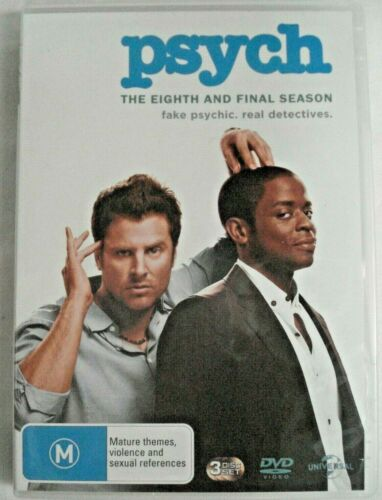 PSYCH The Eighth and Final Season DVD Fake Psychic-Real Detectives