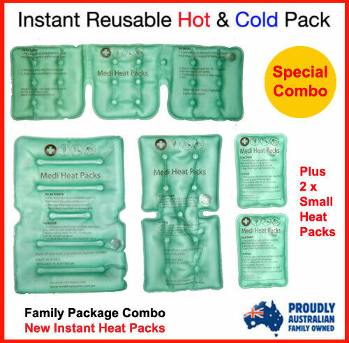 Instant Heat Pack, Packs for Back Pain & Neck Heat Pack, Reusable Heat Pack