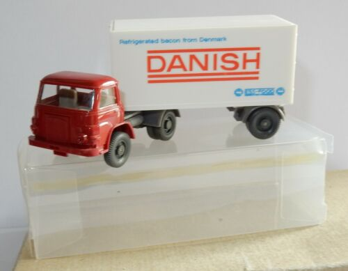 c WIKING HO 1/87 CAMION MAN SEMI TRAILER DANISH FOOD DENMARK LARD FRAIS DANOIS