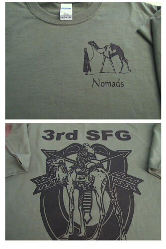 3rd Special Forces Group NOMADS T-Shirt 2X Ultra Cotton GreenOther Militaria - 135