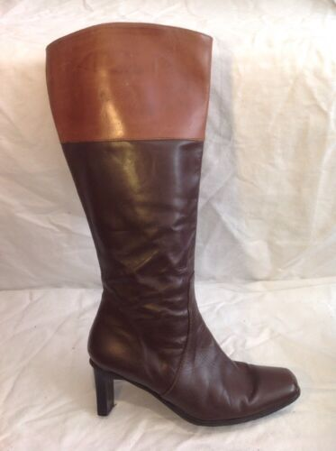 Hemisphere Brown Knee High Leather Boots Size 5