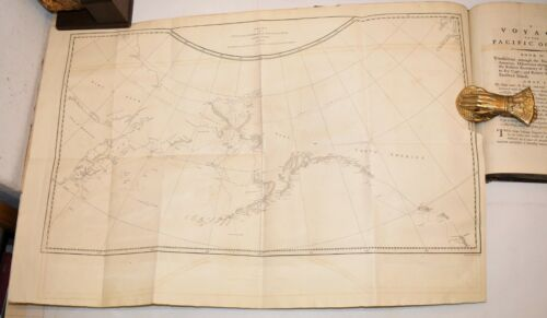 Viaggi - JAMES COOK : VOYAGE to the PACIFIC OCEAN 1784  3 Voll  16 Mappe Carte