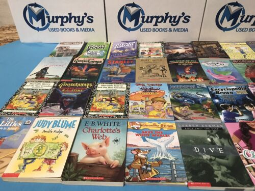 Huge Bulk Lot of 50+ Children's Kids Chapter Books Instant Library Unsorted lot <br/> Perfect Readers for Kids Grades 2-5 or Bedtime Stories