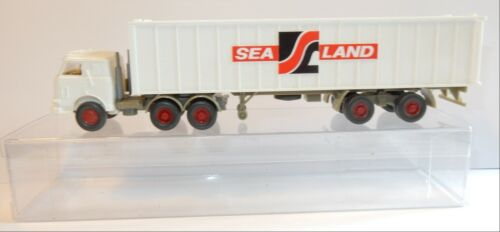 WIKING HO 1/87 CAMION US TRUCK PORTE CONTAINER SEALAND IN BOX