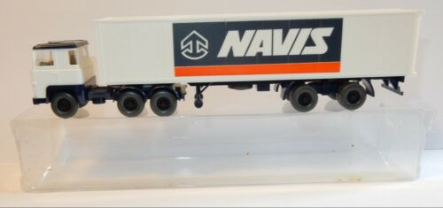 WIKING HO 1/87 CAMION SCANIA 111 SEMI-REMORQUE CONTAINER NAVIS INTERNATIONAL BOX