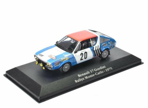 Renault 17 Gordini Monte Carlo 1975- 1/43 Atlas Voiture miniature Model car G025