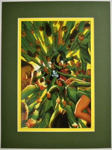 BLACK TERROR #7 Cover PRINT Professionally MATTED Alex Ross art