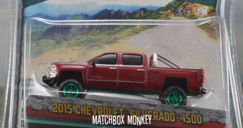 GreenLight Vert Machine Tout Terrain 2015 Chevy Silverado 1500 Camion Poursuite