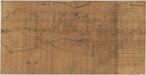 Map of environs of York Virginia c1781 26x14